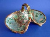 Large George Jones Majolica Double Strawberry Basket c1872